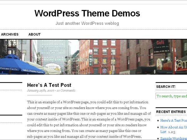 thème WordPress Cutline 3 colonnes