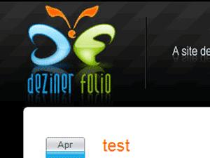 Dezinerfolio screenshot français