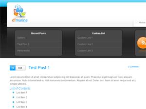 Thème WordPress marine