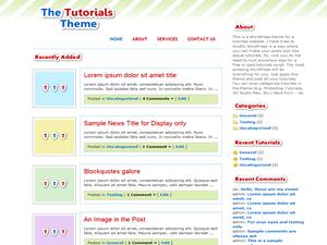 Thème WordPress Tutorial