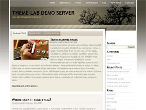 Monochrome thème WordPress